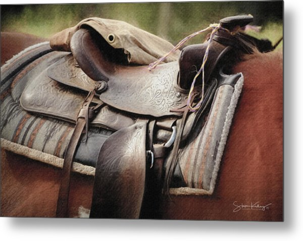 Lonely Saddle  Metal Print