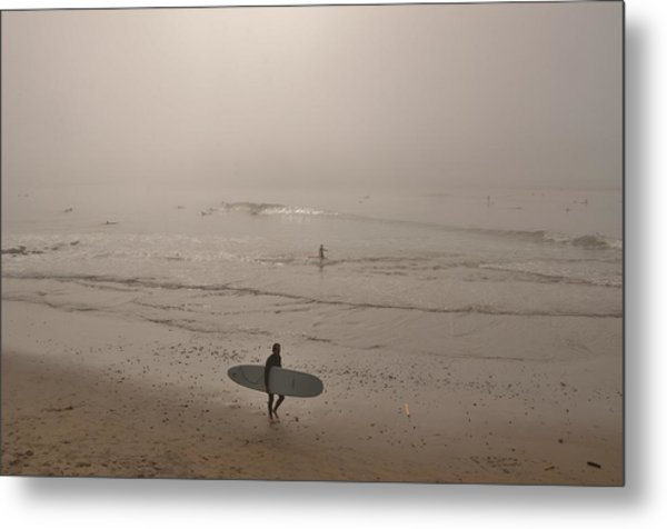 Lonely Surfer Metal Print
