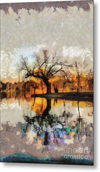 Lonely Tree And Its Thoughts Metal Print