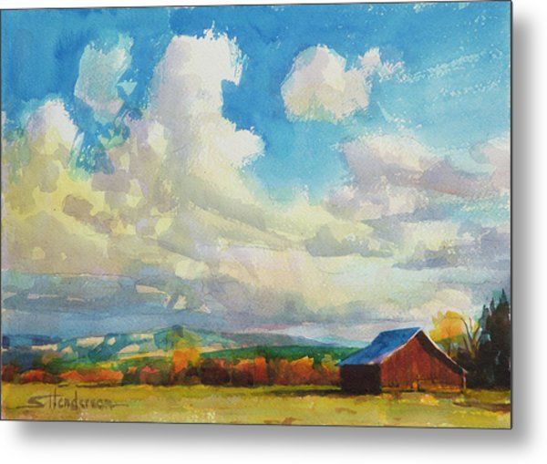 Lonesome Barn Metal Print