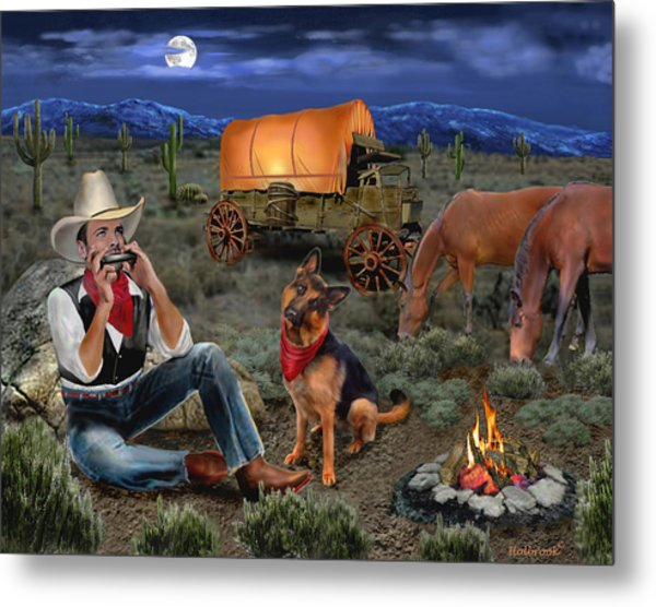 Lonesome Cowboy Metal Print