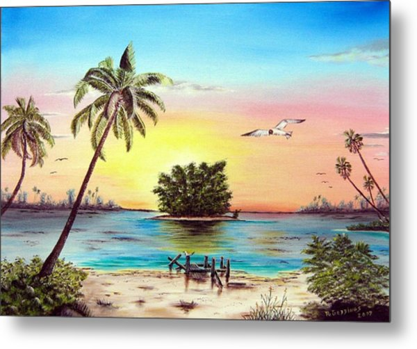 Lonesome Florida Cay Metal Print by Riley Geddings