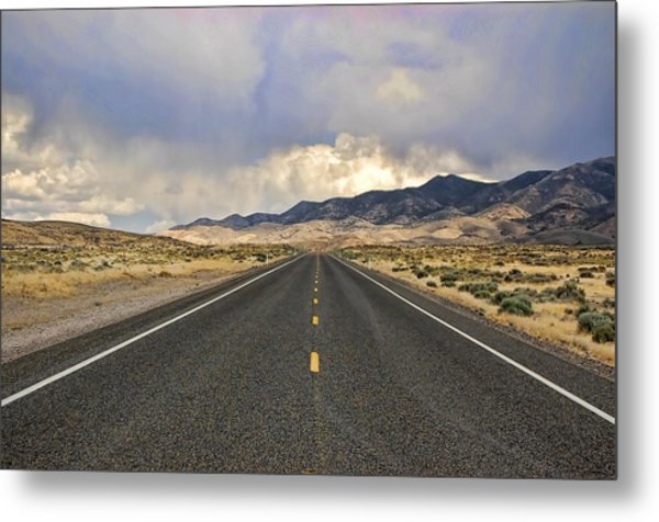Lonesome Highway Metal Print by Nick Roberts