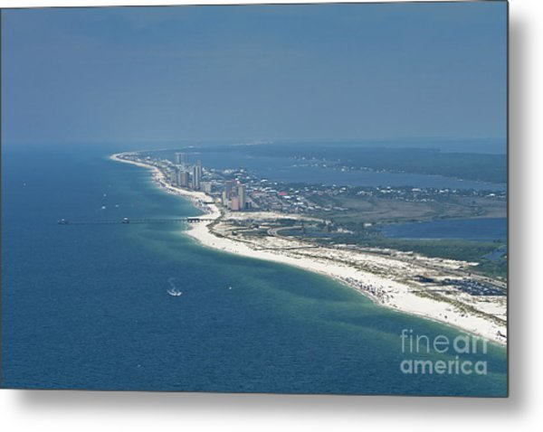 Long, Aerial, Beach View Metal Print