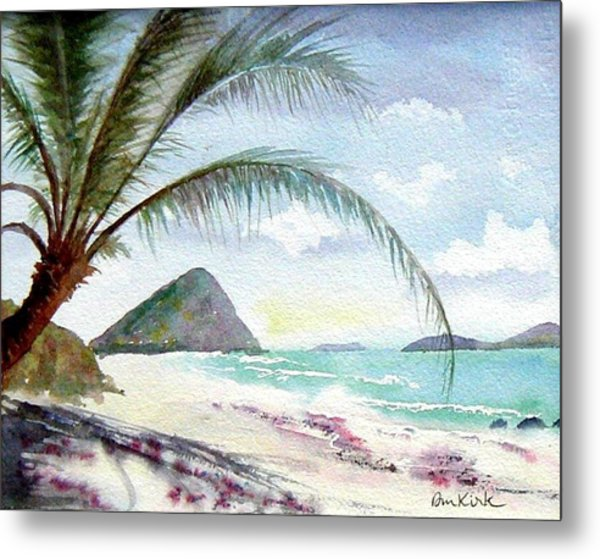 Long Bay Shadows Metal Print