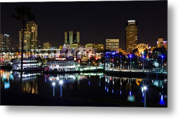 Long Beach Lights Metal Print