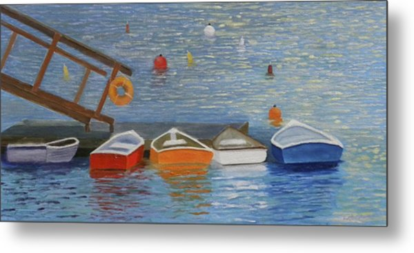 Long Cove Dock Metal Print
