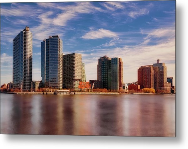 Metal Print featuring the photograph Long Island City Skyline Nyc by Susan Candelario