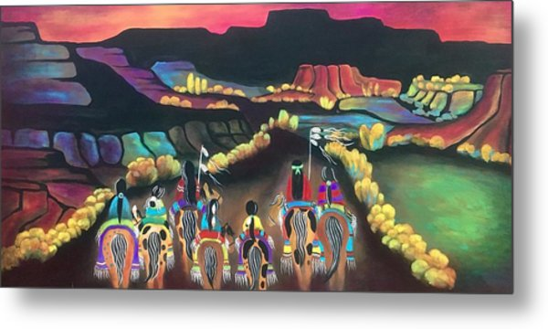 Metal Print featuring the painting Long Journey by Jan Oliver-Schultz