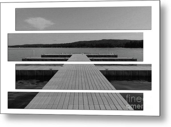 Long Lake Dock Metal Print