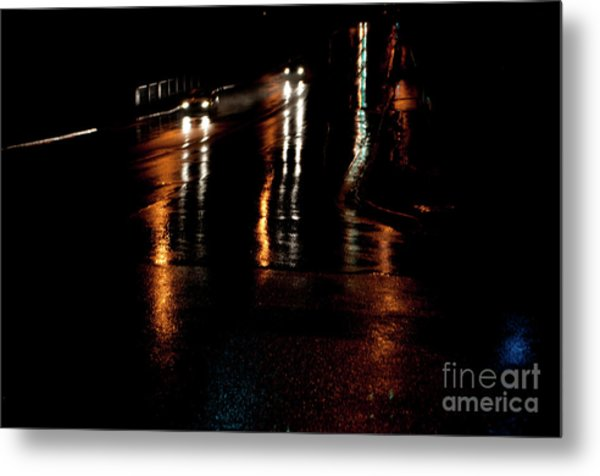 Long Lights At Night Metal Print by Gary Chapple