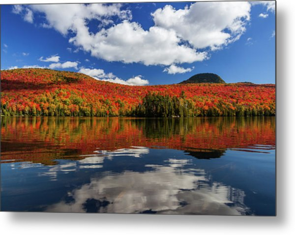 Long Pond And Clouds Metal Print