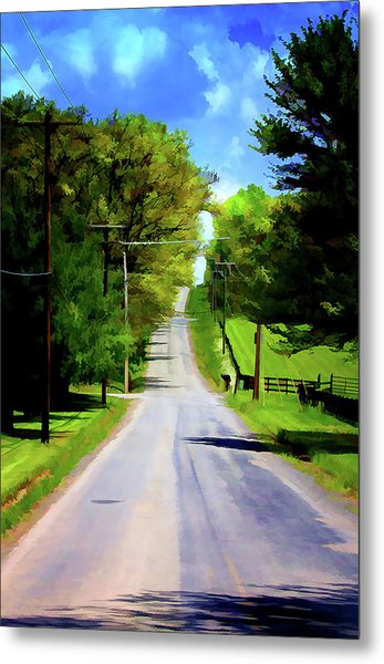 Long Road Ahead Metal Print