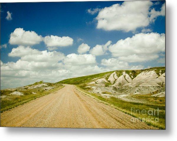 Long Road Ahead Metal Print by Sandy Adams