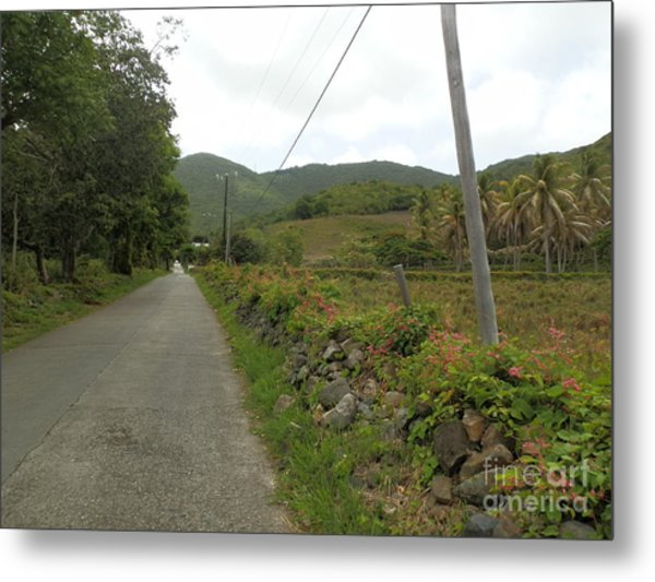 Long Road Into Colombier Metal Print