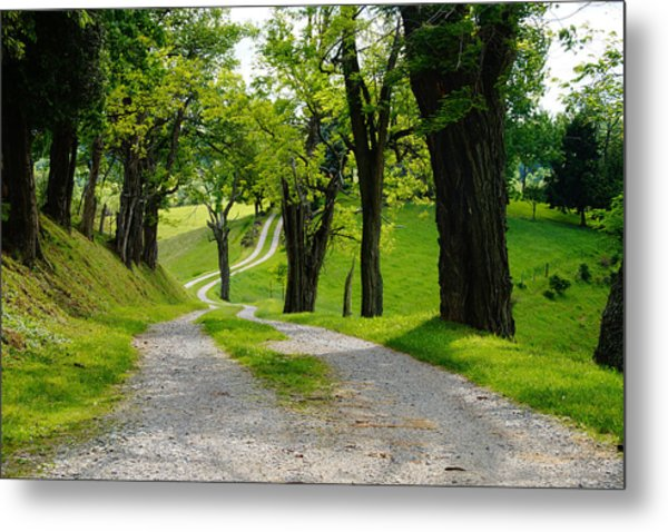 Long Road Metal Print