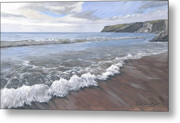 Long Waves At Trebarwith Metal Print