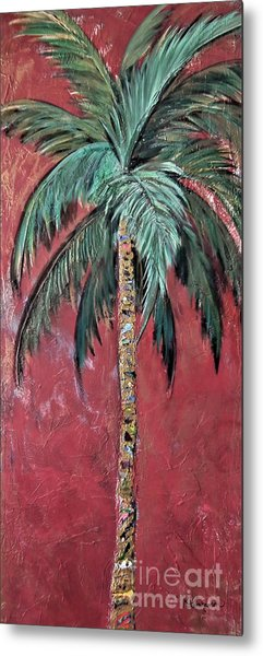 Longboat Key Palm Metal Print
