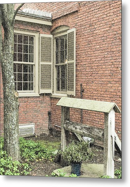 Longfellow's Maine Home Metal Print