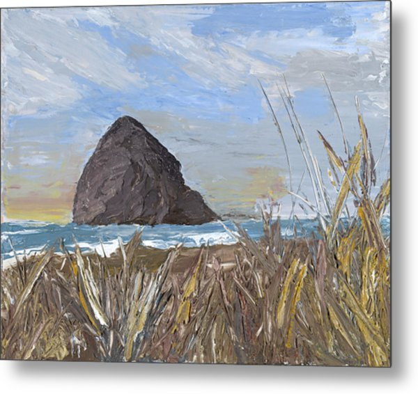 Longing For The Sounds Of Haystack Rock Metal Print