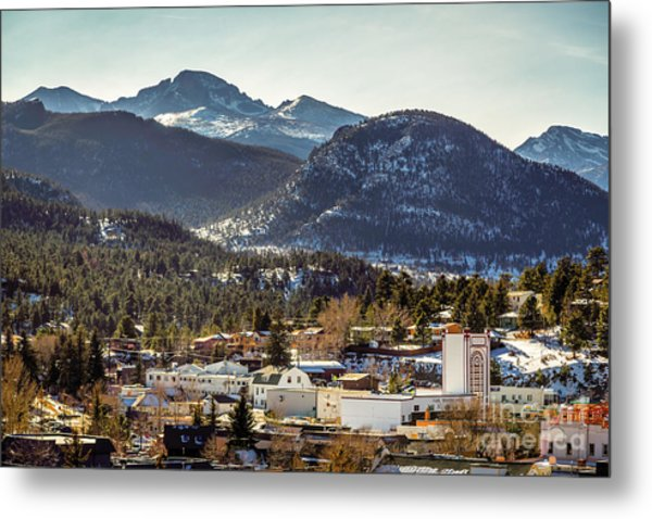 Longs Peak From Estes Park Metal Print