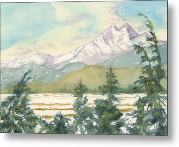 Long's Peak From Longmont Metal Print