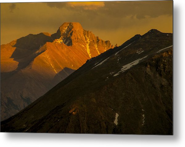 Long's Peak Metal Print