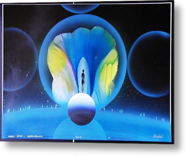 Look Into Deep Space Metal Print by Karel Umek