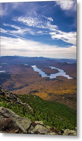 Lookin Down On Lake Placid Metal Print