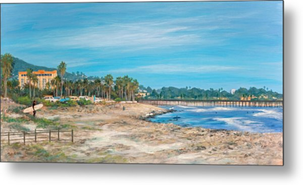 Looking Back At Surfers Point Metal Print by Tina Obrien