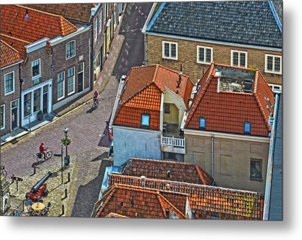 Looking Down From The Church Tower In Brielle Metal Print