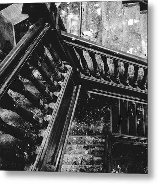 Looking Down Old Staircase Metal Print by Dylan Murphy