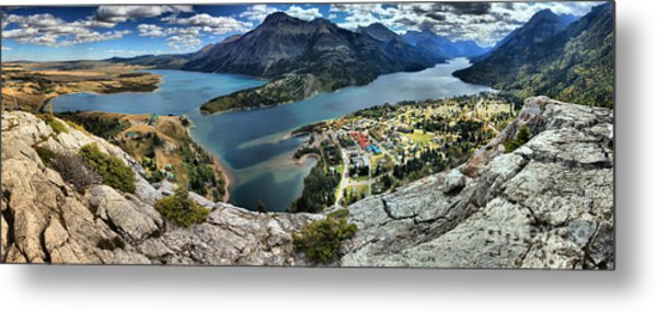 Looking Down On Waterton Lakes Metal Print