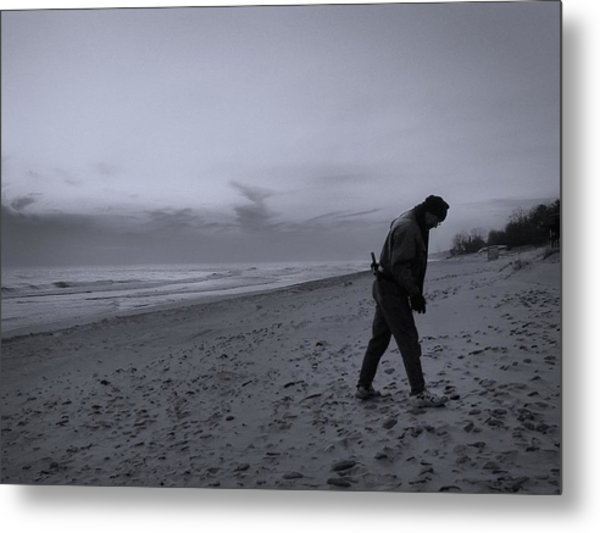 Looking For A Smooth Stone  Metal Print