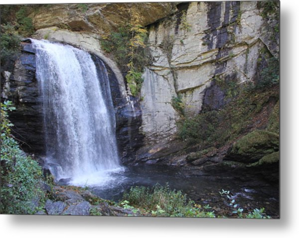 Looking Glass Falls Side View Metal Print