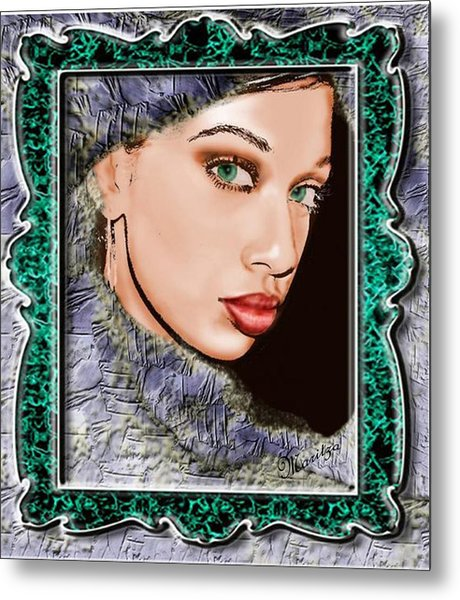 Looking Glass Metal Print by Maritza De Leon