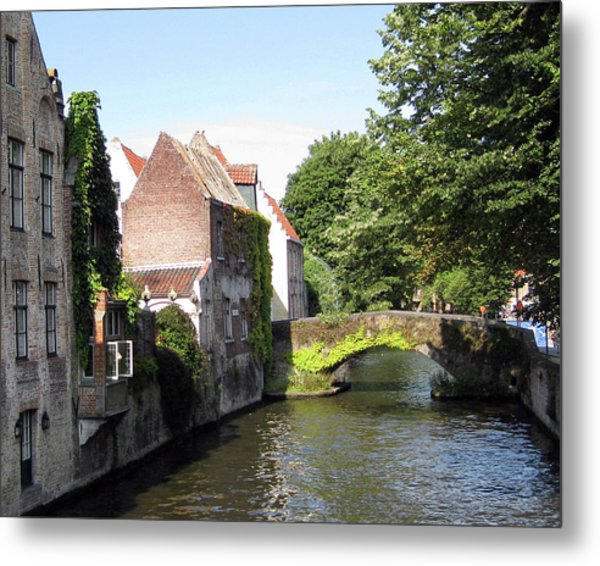 Looking Out On The Canal Metal Print by David L Griffin