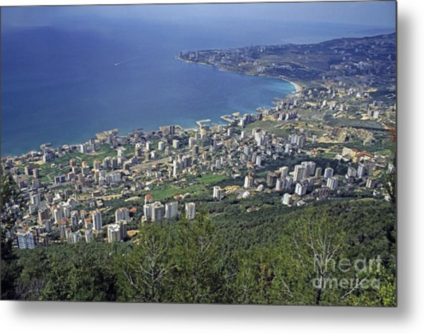 Looking Over Jounieh Bay From Harissa Metal Print by Sami Sarkis
