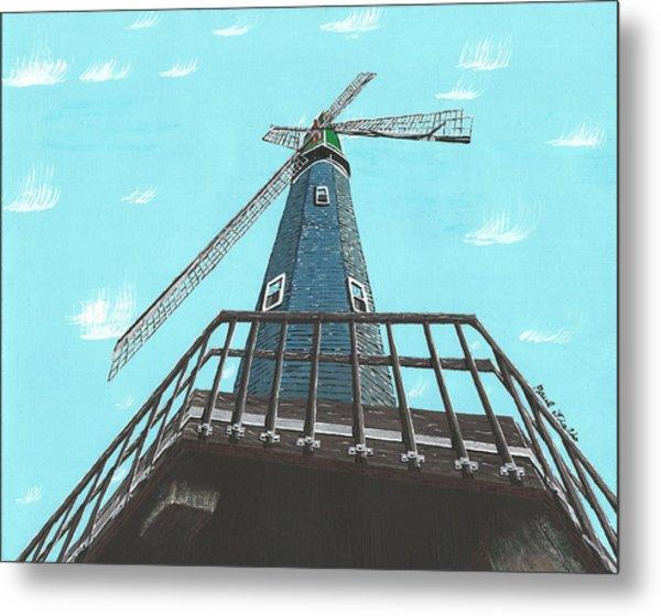 Looking Up At A Windmill Metal Print