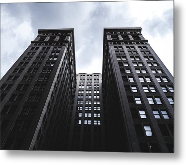 Looking Up At Building In St. Louis Metal Print by Dylan Murphy