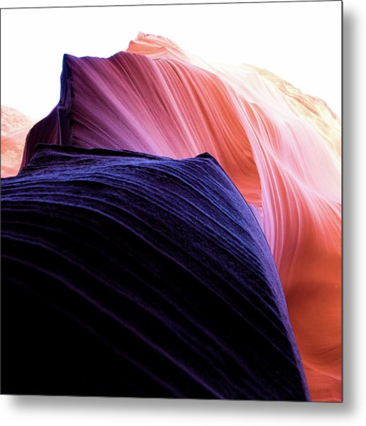 Metal Print featuring the photograph Looking Up - Dark To Light by Stephen Holst