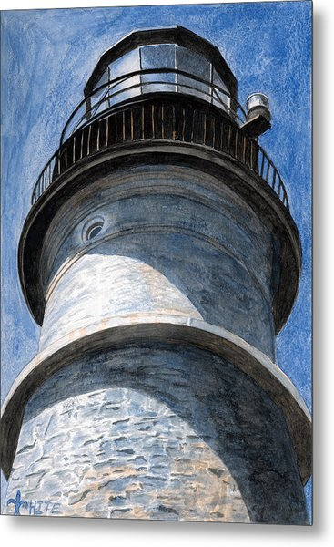Looking Up Portland Head Light Metal Print