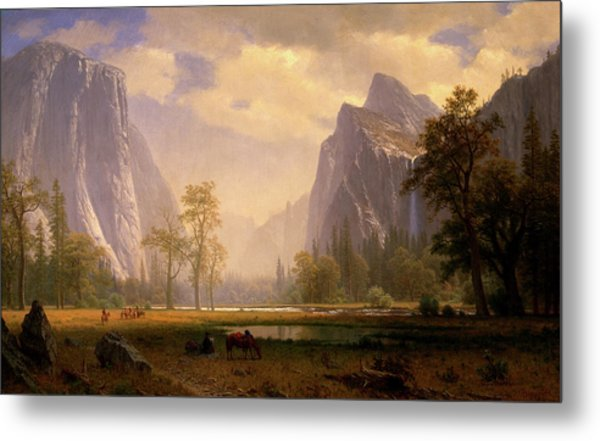 Looking Up The Yosemite Valley  Metal Print