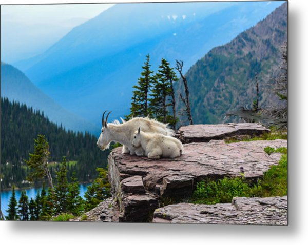 Lookout Ledge Metal Print
