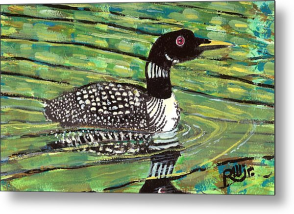 Loon Metal Print by Robert Wolverton Jr