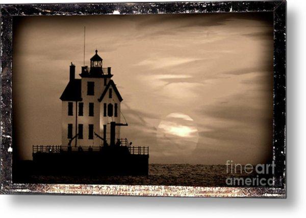 Lorain Lighthouse - Lake Erie - Lorain Ohio Metal Print