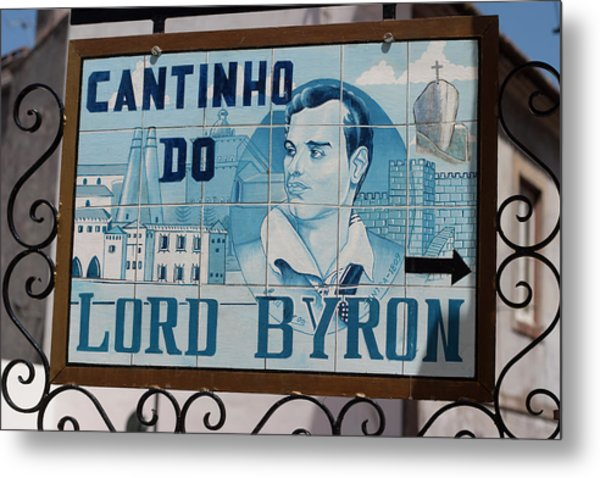 Lord Byon Ate Here Metal Print by Carl Purcell