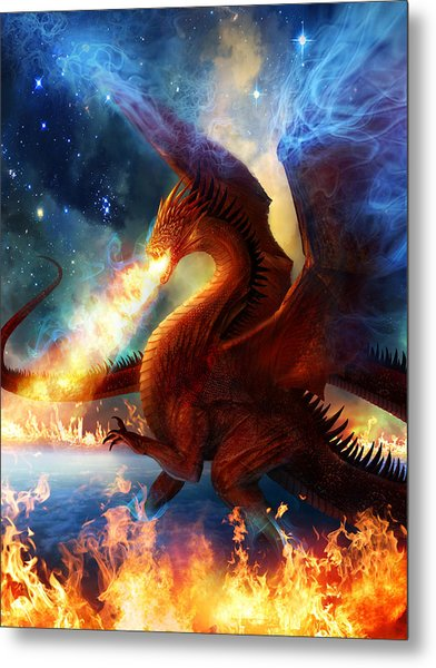 Lord Of The Celestial Dragons Metal Print