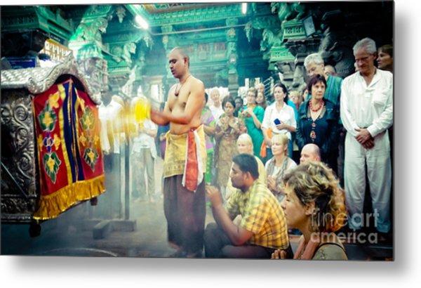 Metal Print featuring the photograph Lord Shiva Meenakshi Temple Madurai India by Raimond Klavins
