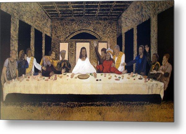 Lord Supper Metal Print